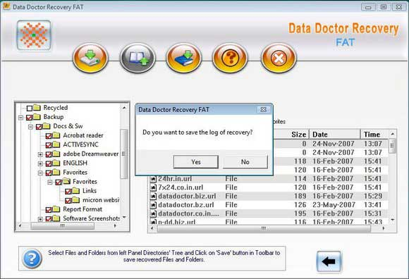 Salvage FAT Partition screen shot