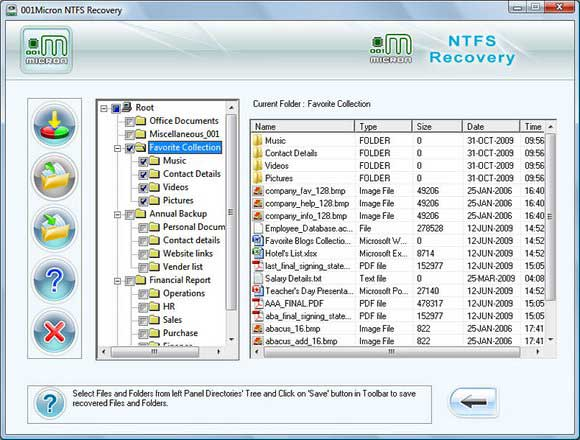 Screenshot of Recover Deleted Partition Vista